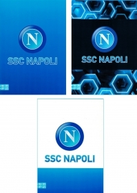 5 Quadernoni Notebooks and maxi/4 SEVEN - SSC NAPOLI - Lining To