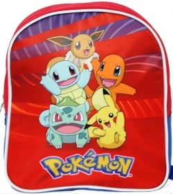 BACKPACK Backpack Kindergarten School POKEMON red