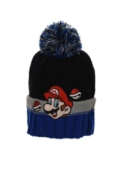 HAT With POM poms - MARIO BROS in