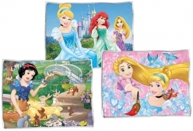 3 TABLE CLOTHS, FABRIC TABLE - DISNEY PRINCESSES