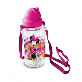 Water BOTTLE Plastic with straw DISNEY - MINNIE