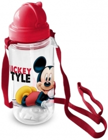 Water BOTTLE Plastic with straw DISNEY MICKEY MICKEY mouse