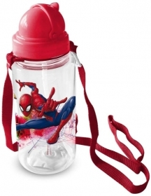 BORRACCIA in Plastica con cannuccia MARVEL SPIDERMAN