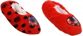 SLIPPERS CLOSED, non-SLIP PLUSH, MIRACULOUS LADY BUG FROM nr 25 to nr 32