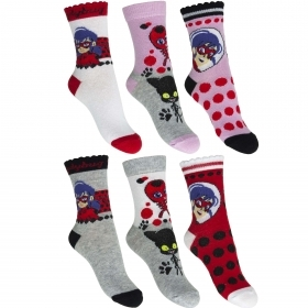 3 PAIRS of SOCKS Socks Girl MIRACULOUS LADY BUG from the nr 23 nr 34