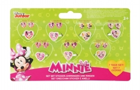 GREAT SET - 7 Pairs of earring Stickers and 7 Rings - DISNEY MINNIE