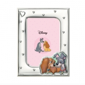 PHOTO FRAME in SILVER - DISNEY LADY and the TRAMP TO