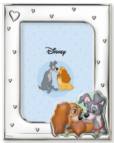 PHOTO FRAME in SILVER - DISNEY LADY and the TRAMP