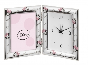 PICTURE FRAME SILVER with CLOCK / ALARM clock - DISNEY MINNIE