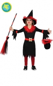 DRESS COSTUME CARNIVAL Mask / HALLOWEEN Girl WITCH in RED