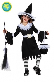 DRESS COSTUME CARNIVAL Mask/HALLOWEEN girl - the WHITE WITCH