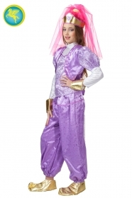 DRESS COSTUME CARNIVAL Mask Girl - HAREM PURPLE