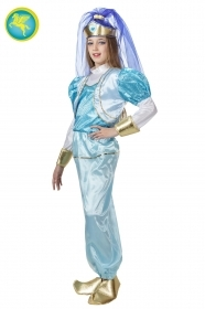 DRESS COSTUME CARNIVAL Mask Girl - ODALISQUE BLUE