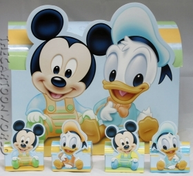 CANDY box, DISNEY pencil CASE door confetti, MICKEY mouse AND DONALD duck - MINNIE AND DAISY