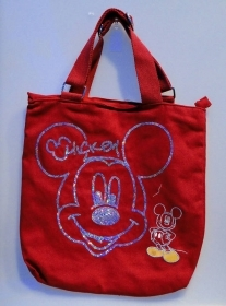Borsa SHOPPING - DISNEY - MICKEY TOPOLINO- rosso